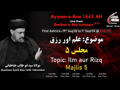 Speech_Night Of 4th Muharram By Maulana Syed Abu Talib Tabatabai_Ayyam-e-Aza 1442_23rd Aug'20_(HD)