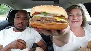 Vlog /mukbang chillin with my husband Burger King at the park 💕