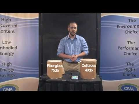 Cellulose vs. FIberglass Insulation Sound Proofing Demonstration
