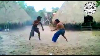 Cambodian Warrior fighting styles in Angkor War Show Kun Khmer