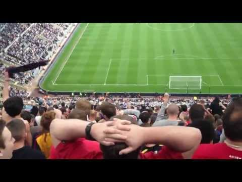 Newcastle vs Arsenal 0-1 2012-13 Fans In Stadium Reactions