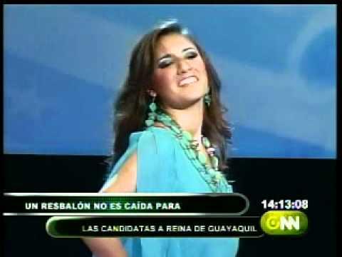 Candidata a Reina de Guayaquil sufrió una pequeña caída