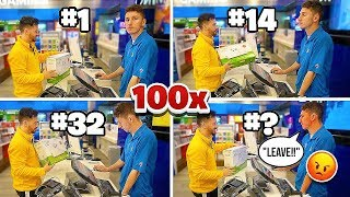 Buying The SAME ITEM From The SAME CASHIER 100 Times!! (Until They Refuse to serve me!)