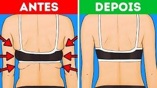 10 Exercícios para Acabar com a Gordura nas Costas e nas Axilas em 10 Minutos