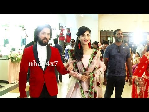 First Time actress Shruthi Hassan with her Boyfriend in Public | nba 24x7