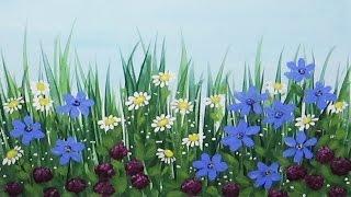 Wildflowers Acrylic Painting Time Lapse Speed painting