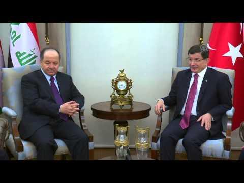 Ahmet Davutoglu   Masoud Barzani meeting in Ankara