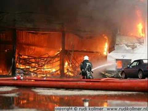 Prestige Ferrari Dealership up in Flames...