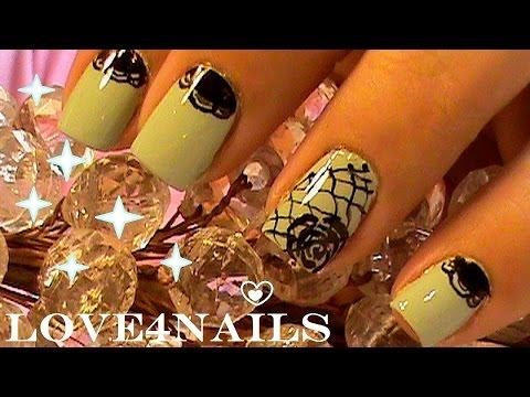 Easy Lace Pattern Nail Art
