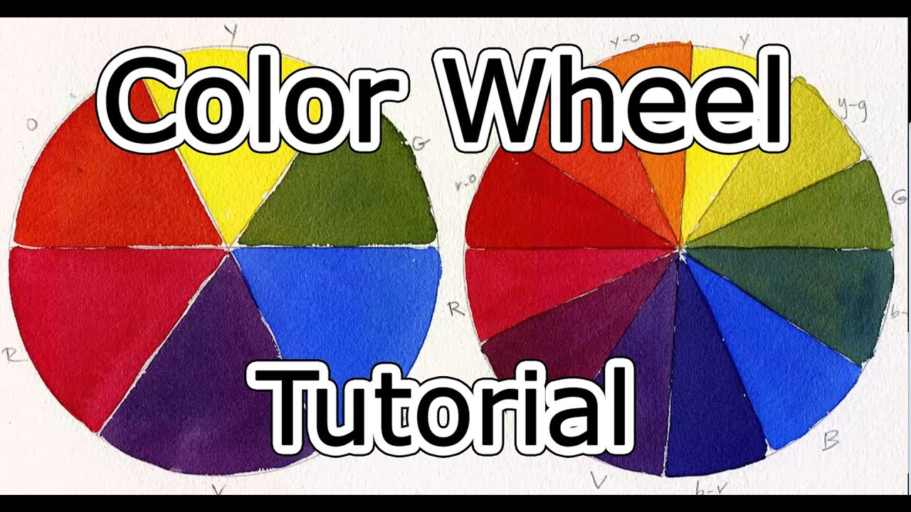 Color wheel tutorial how to mix paint youtube for Color wheel chart paint