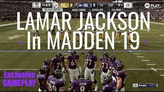 NEW Exclusive Madden 19 Gameplay | Lamar Jackson's Ravens vs Steelers