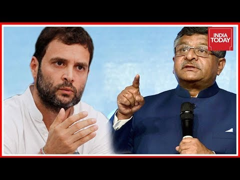 Rahul Gandhi Vs Ravi Shankar Prasad Political War Of Words Over Judicial Appointments