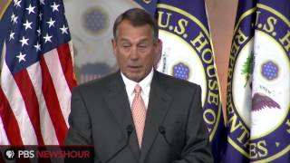 Speaker John Boehner on fiscal issues: