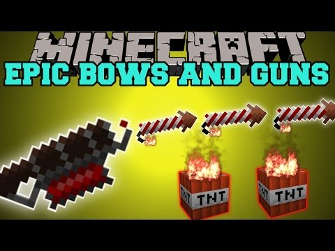 Minecraft: EPIC BOWS AND GUNS RAPID FIRE SPRAY SHOTS POTION EFFECTS Mod Showcase