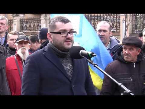 """Корупція ‒ це тільки наслідок, а причина ‒ в олігархах"""", - Руслан Андрійко. Слово на Марші сили нації"""