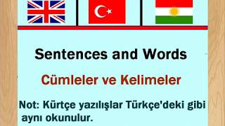 Learning Kurdish (Kurmanji) Language - Turkish Language