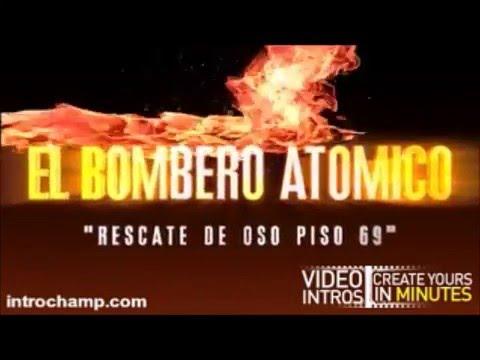 EL BOMBERO ATÓMICO, RESCATANDO SU OSO DE UN EDIFICIO EN LLAMAS...