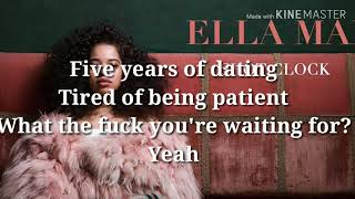 Ella Mai shot clock Lyrics