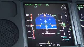 Cockpit Cam - PFD Closeup (RNAV Approach)