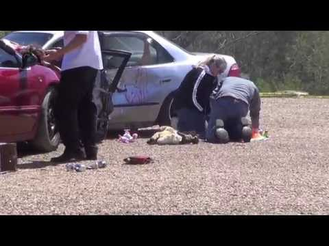 OPERATION PROM NIGHT - DWI traffic crash fatality simulation put on by 911 heroes in garland county, arkansas.