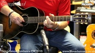 Tanglewood TW73 Vintage Sunburst Acoustic Guitar Demo - Richie Stopforth