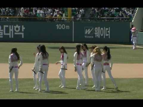 Fancam 100328 SNSD - Oh! GeePro Baseball Opening Game