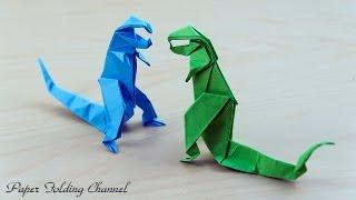 Origami Skeleton of Tyrannosaurus Rex Issei Yoshino