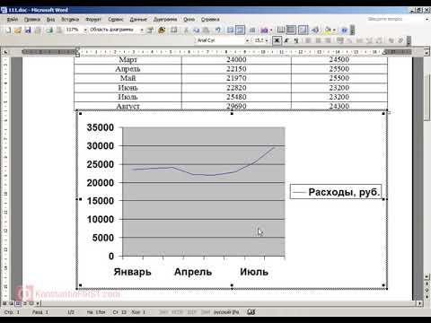 Как строить диаграммы и графики в Word
