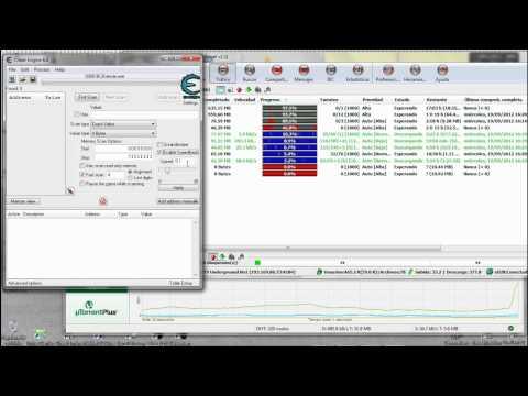 Como acelerar las descargas en uTorrent y Emule a la vez con Cheat Engine, Funciona muy bien!!!
