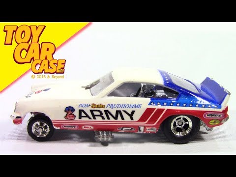 Hot Wheels Don The Snake Prudhomme ARMY Funny Car Toy Car Case