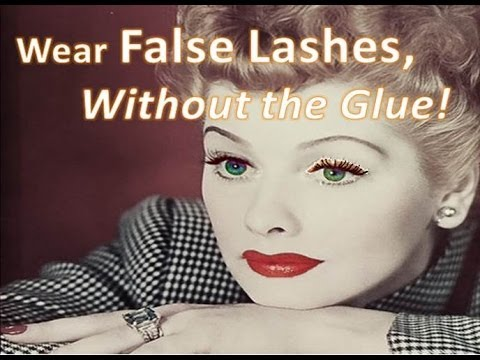 Wear False Lashes without the Glue!