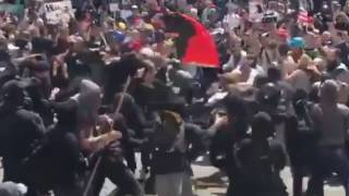 SESSIONS MUST DECLARE ANTIFA DOMESTIC TERROR GROUP-ANTIFA STABBING ATTEMPT CAUGHT ON FILM-COPS DO AB
