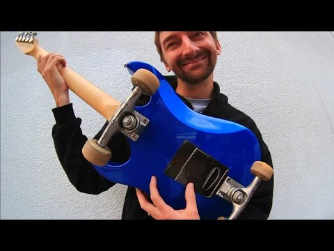 SKATEBOARDING ON AN ELECTRIC GUITAR!  | SKATE EVERYTHING EP  25