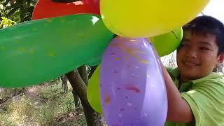 Đồ chơi trẻ em bé pin  hái bong bóng và học màu ❤ PinPin TV ❤ Baby toys balloons color