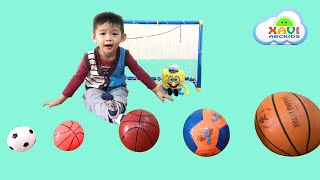 Learn Colors with Soccer Balls for Children, Toddlers and Baby - Finger family nursery rhymes