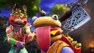 SACRIFICE AT TOMATO TEMPLE! | A Fortnite Film (Tomato Head Tribe vs Beef Boss)