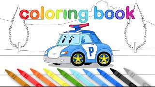 Coloring Book ROBOCAR POLI