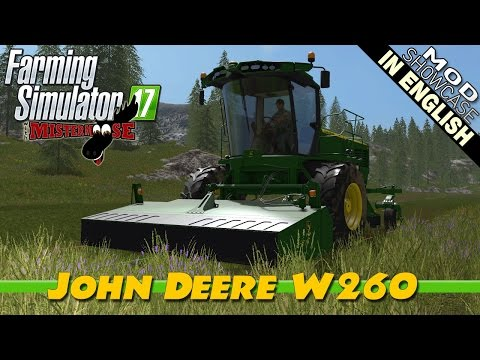Farming Simulator 17 Mod Showcase | John Deere W260 Windrower