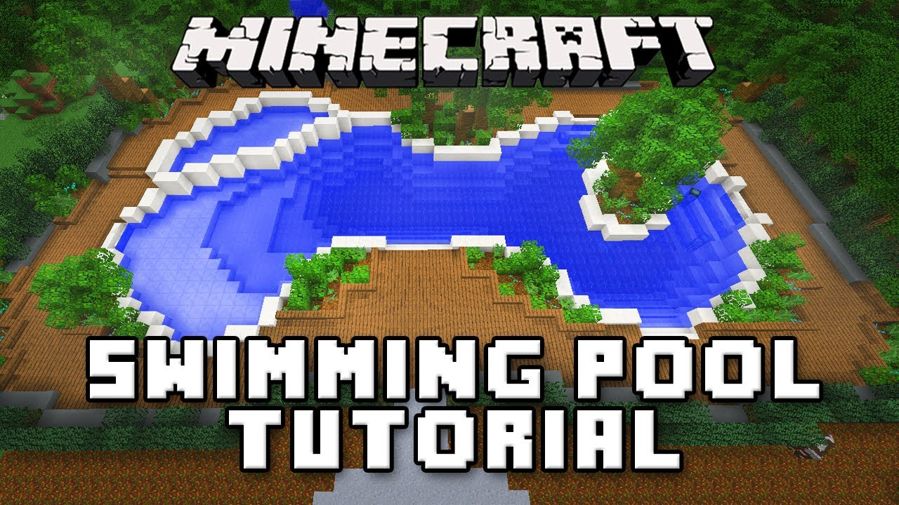 Minecraft Tutorial How To Make A Swimming Pool And Spa Modern House Build Ep 32 Youtube