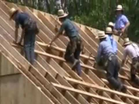 Mennonite barn raising