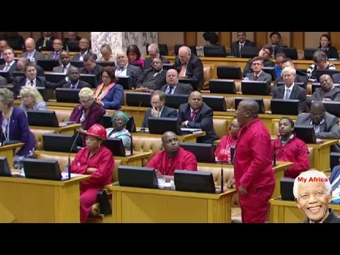 Speaker Baleka Mbete Is Scared Of White People - Julius Malema.