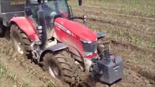Massey Ferguson 7624 in mud