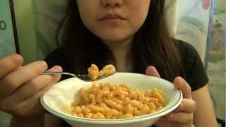 Eating Macaroni and Cheese
