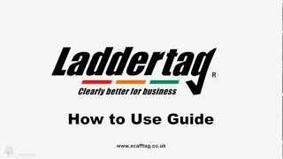 Scafftag How To Use Guide - Laddertag