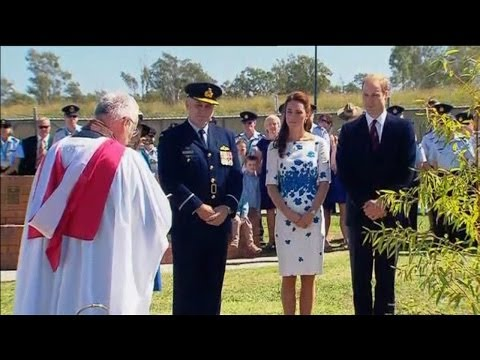 Royals visit Memorial Garden in Amberley, Queensland