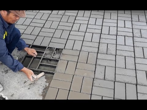 Amazing Creative Construction Worker Make Tiles and Bricks