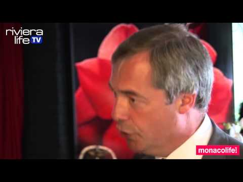 UKIP leader Nigel Farage in Monaco