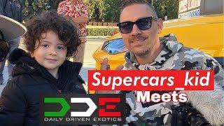 Supercars Kid does the Toys Drive & meets DDE and the batman lamborghini