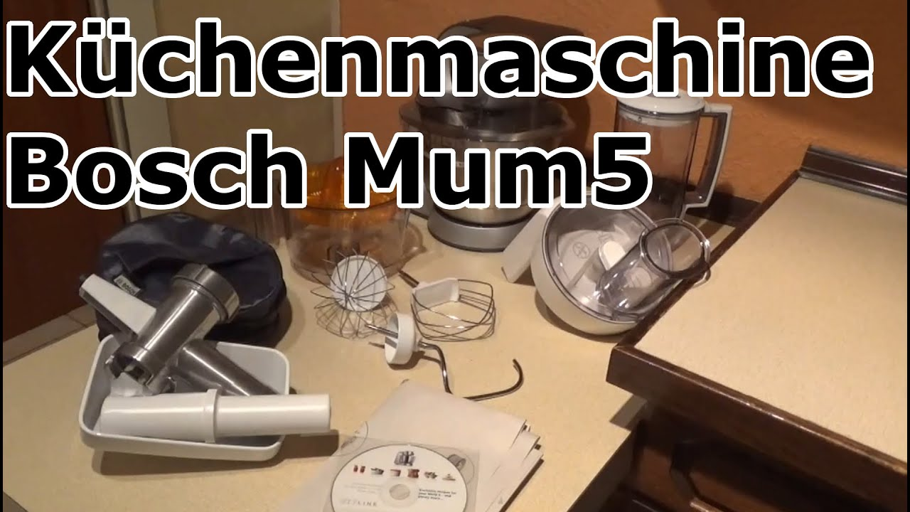 k chenmaschine bosch mum youtube. Black Bedroom Furniture Sets. Home Design Ideas