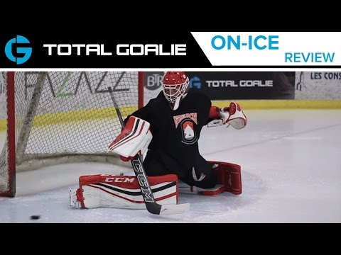 CCM Premier Pro Leg Pads. Catch Glove. and Blocker // On-Ice Review with Matt from CCM // Montreal